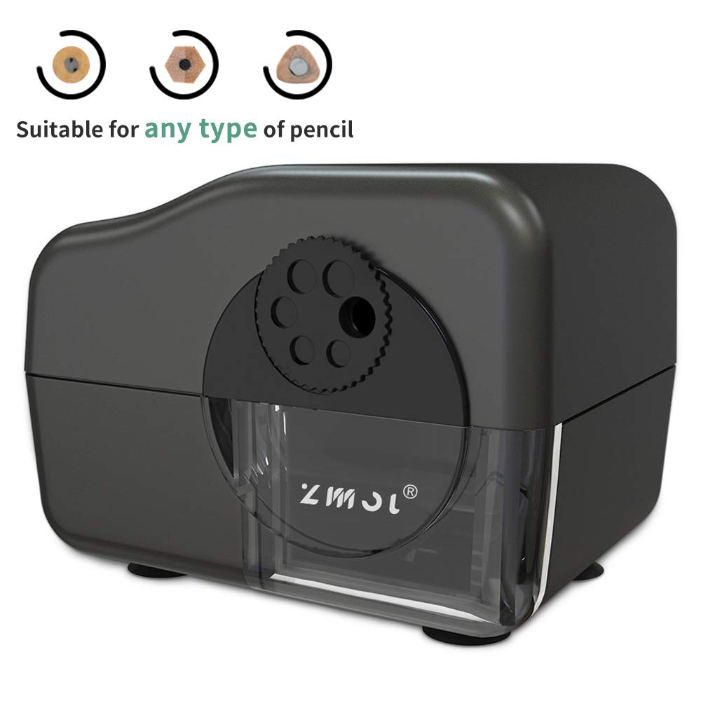 Electric Pencil Sharpener Heavy Duty,MultiPoint Pencil Sharpener Plug in for 6,7,8,9,10 & 11mm Pencils,Suitable for School/Classroom/Office/Home,Auto Stop,Fast Sharpen by Zmol