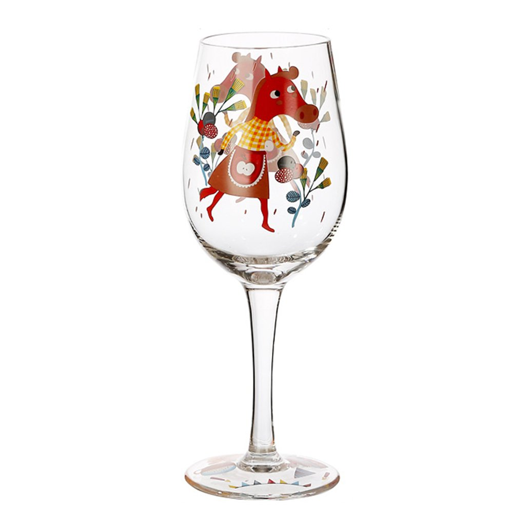 CHOOLD Zodiac Artisan Painted Wine Glass Animal Print Wine Glasses Lead-Free Glasses Goblet Party Wedding Christmas Gift