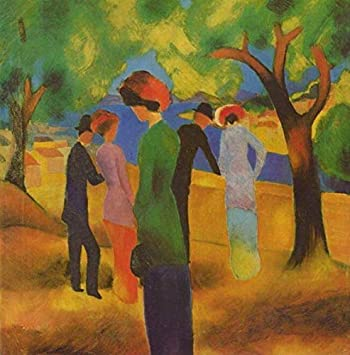 50 4000 Hand Painted Art Paintings By College Teachers A Woman In Green Jacket Abstract August Macke German Oil Painting Reproduction For Wall