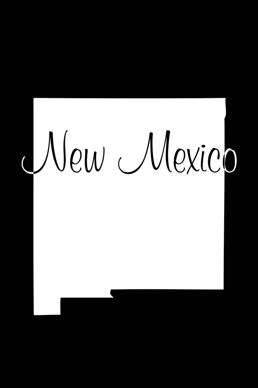 Download New Mexico   - Black Lined Notebook with Margins: 101 Pages, Medium Ruled, 6 x 9 Journal, Soft Cover pdf epub