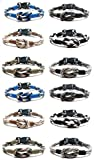 Frogsac Paracord Knot Parachute Cord Bracelets Great Party Favors Set of 12 (Guys)