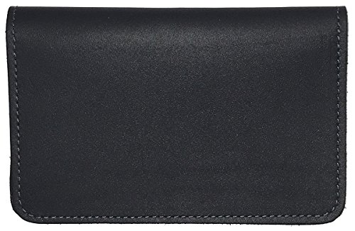 Navy Blue Leather Top Stub Checkbook Cover