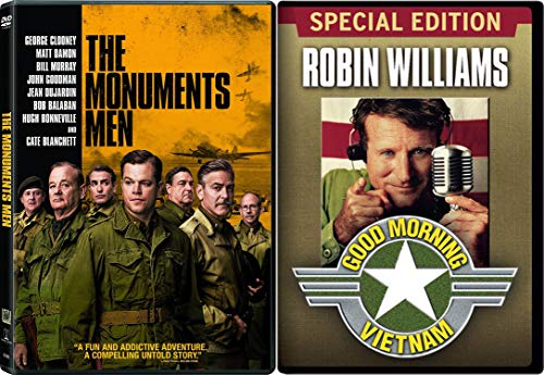Vietnam & WW2 Modern Classic - The Monuments Men & Good Morning Vietnam (Special Edition) 2-DVD Bundle