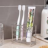 K-Steel Stainless Steel Stand Bathroom Toothbrush Toothpaste Holder