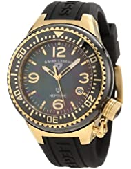 Swiss Legend Womens SL-11844-BKBGA Neptune Mother of Pearl Silicone Watch