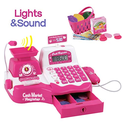 Liberty Imports Pretend Play Electronic Cash Register