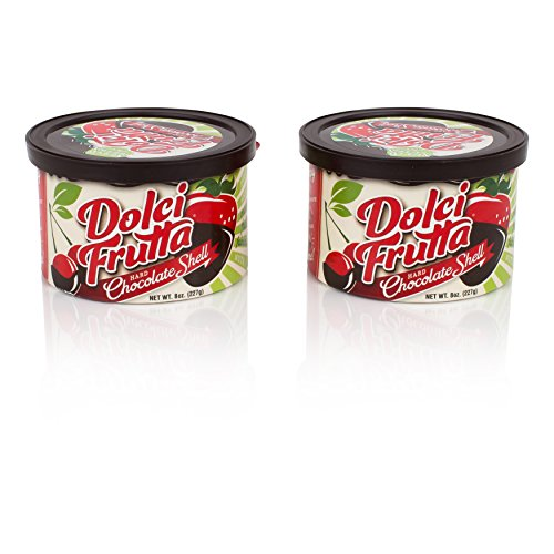 - Dolci Frutta Hard Chocolate Shell, Simply Microwave, Dip, and Done, Nut-Free, Gluten-Free, 8oz, Pack of 2