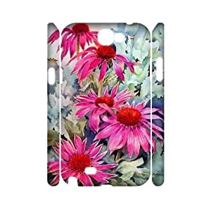 Chinese Beautiful sunflower Personalized 3D Cover Case for Samsung Galaxy Note 2 N7100,custom Chinese Beautiful sunflower Case