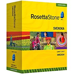 Rosetta Stone Homeschool Swedish Level 1-3 Set including Audio Companion