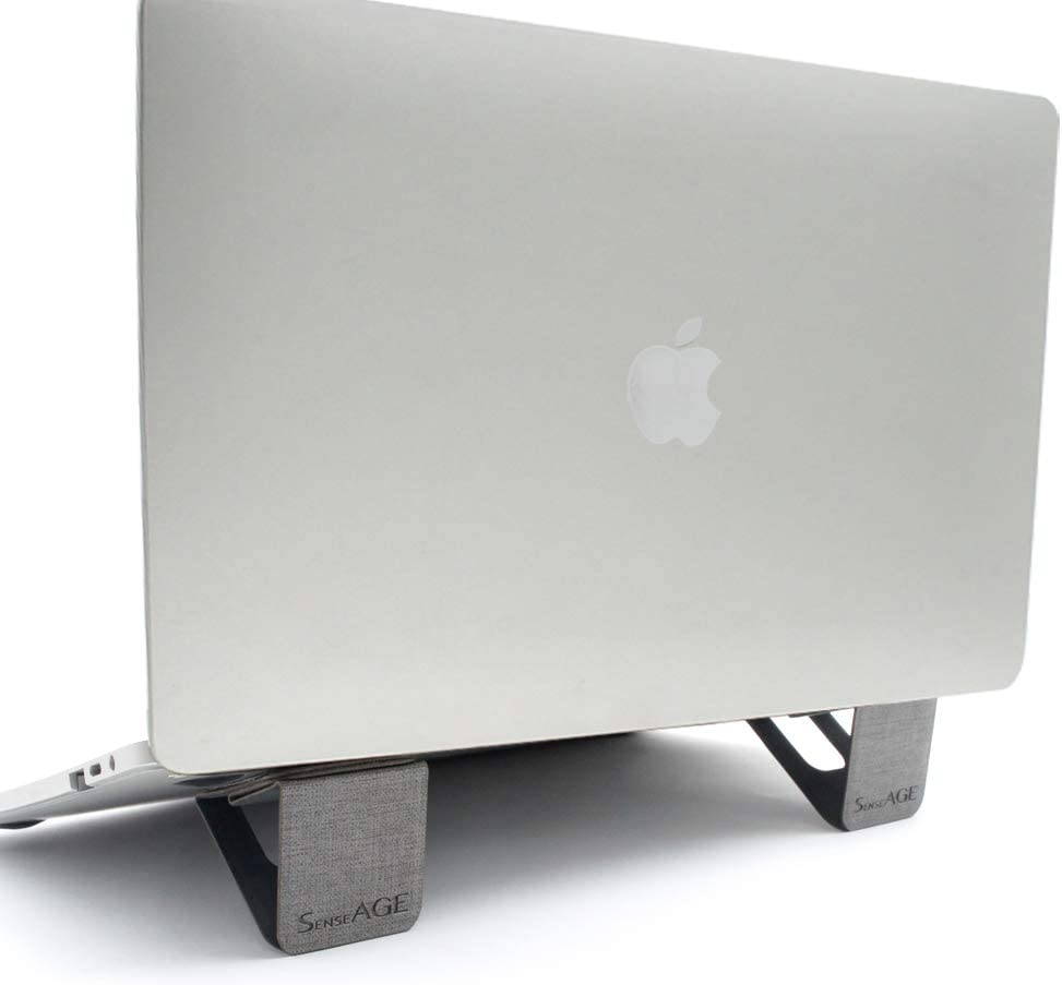 """SenseAGE Mini Magnetic Portable Foldable Laptop Stand, Lightweight Laptop Stand, On-The-go Notebook Stand, Compatible with MacBook/MacBook Air/MacBook Pro, Tablets and Laptops up to 15"""", Grey"""