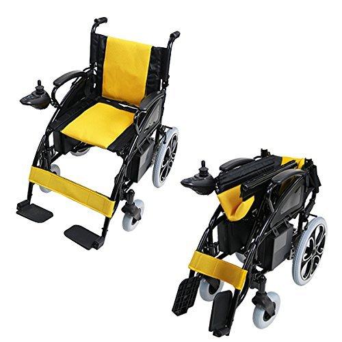 電動車椅子 黄 折りたたみ 車椅子 コンパクト ノーパンクタイヤ 電動 手動 充電 電動ユニット 電動アシスト 電動カート 折り畳み 車椅子 車イス 車いす 四輪車 4輪車 移動 介護 福祉 電動車いす イエロー scootere01yela B076KB16PV