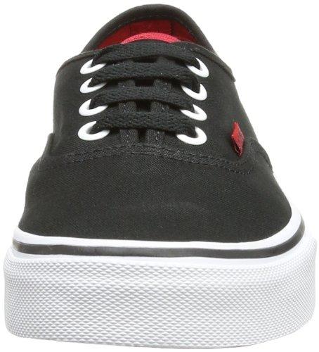Baskets Noir black Authentic Adulte Mixte Basses Vans pop chi U P6xnE