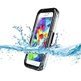 Kuteck® Premium Waterproof Shockproof Dirt Snow Proof Durable Case Cover For Samsung GALAXY S5 (Black). Include Matte Screen Protector and Stylus.
