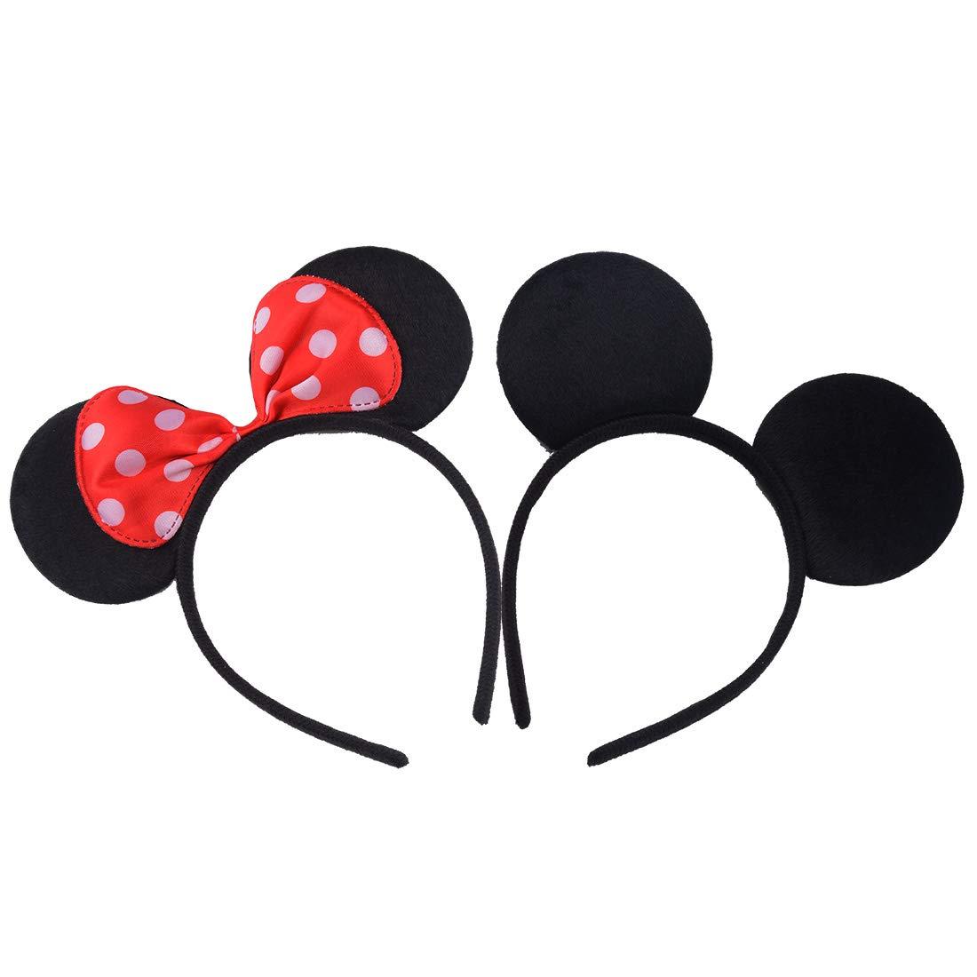 12 pezzi Rana Verde Mickey Minnie Fasce per capelli compleanno Feste di Halloween Mamma Ragazzi Ragazze Accessori per capelli Belle orecchie da topo copricapo Decorazioni Rana Verde