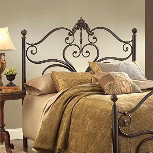 Hillsdale Victorian Headboard - Hillsdale Furniture Headboard in Antique Brown (Queen: 62.5 in. W x 3 in. D x 60.25 in. H)