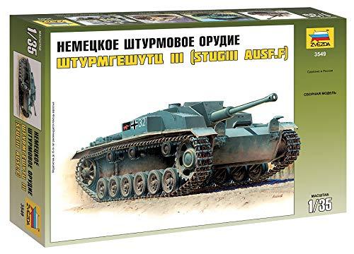 (German Sturmgeschutz III Ausf.F WWII 1/35 Zvezda 3549)