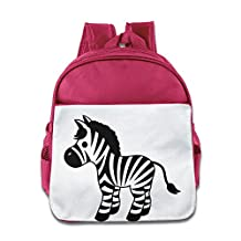 Lovely Baby Funny Horse Cartoon Zebra Print Teenager Pink School Bag For 1-6 Years Old