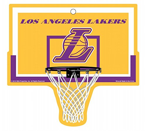 Los Angeles Lakers Basketball Plastic Hoop Sign NBA 9.5''x9'' by WinCraft