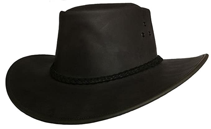 KakaduTraders Australia Packer Leather Hat in Black 2nd Choice KTA at  Amazon Men s Clothing store  c2160e2526f