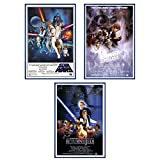 Star Wars Episode IV, V & VI - Framed 3 Piece Movie Poster / Print Set (3 Regular Style Posters) (Size: 24'' x 36'' each)