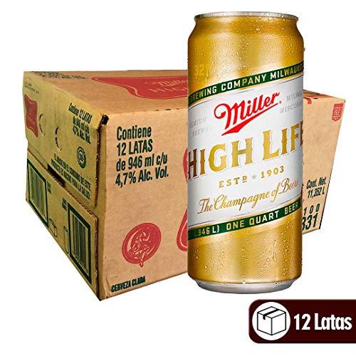 Cerveza Miller High Life 946 ml - Caja 12 Latas