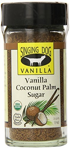 Singing Dog Vanilla Organic Palm Sugar, Coconut, 2.5 Ounce by Singing Dog Vanilla