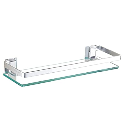 Amazon.com: Bathroom Shelf Organizer Wall Mount Glass Shelf Bathroom ...