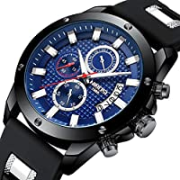 [Patrocinado] NIBOSI Watches Men's Chronograph Fashion Waterproof Quartz Wrist Watch for Men