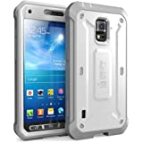 Galaxy S5 Case, SUPCASE [Heavy Duty] Samsung Galaxy S5 Case [Unicorn Beetle PRO Series] Full-body Rugged Case with Built-in Screen Protector (White/Gray), Dual Layer Design + Impact Resistant Bumper