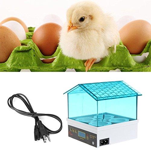 Poity Unique Automatic 4 Egg Turning Incubator Chicken Hatcher Temperature Control New