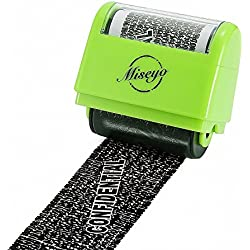 Miseyo Wide Roller Stamp Identity Theft Stamp 1.5 inch Perfect for Privacy Protection - Green