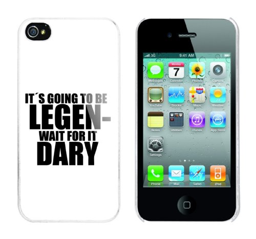 Iphone 4 Case It s going to be legen - wait for it - dary Rahmen weiss