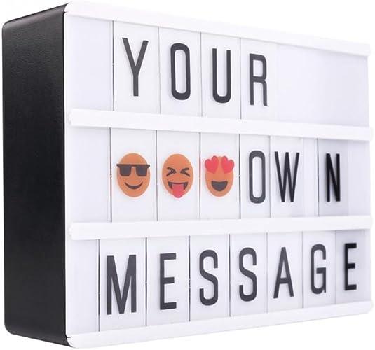 Caja de luz magnética LED Lightbox A6, con letras flexibles y emojis para colocar en el frigorífico: Amazon.es: Joyería