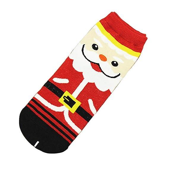 QUICKLYLY Calcetines de Algodón/Lana Térmicos Adulto Hombre/Mujer Para Otoño e Invierno 2018 Deportivos, Casuales Impresos 3D De Navidad Tubo Medio Lindos: ...
