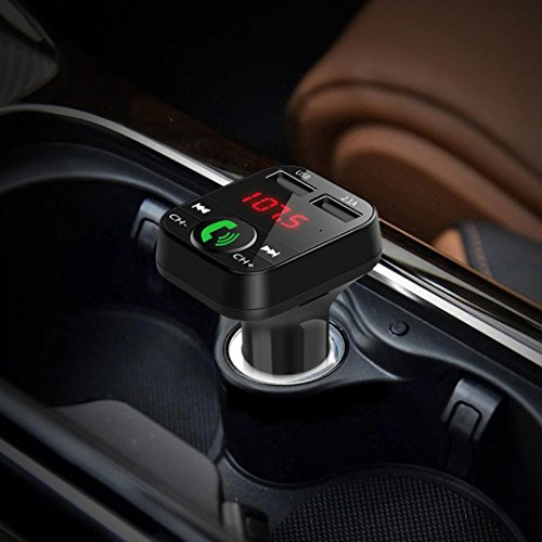 CreazyDog Car Kit Handsfree Wireless Bluetooth FM Transmitter LCD MP3 Player USB Charger by CreazyDog® (Image #3)