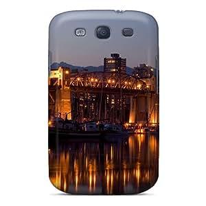 Ultra Slim Fit Hard STWanke Case Cover Specially Made For Galaxy S3- Burrard Bridge