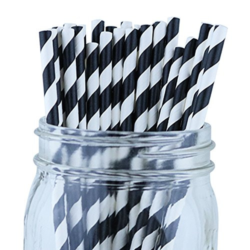 Just Artifacts Decorative Striped Straws product image