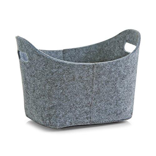 Zeller 14301 Korb, oval, Filz, grau