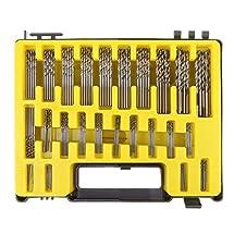 Awakingdemi 150-piece Mini Twist Drill Bit Kit HSS Micro Precision Twist Drill 24 Sizes 0.4-3.2mm