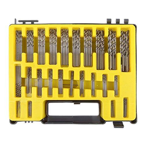 Awakingdemi Drill Bits ,tHSS Twist Drill,150-piece Mini Twis