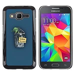 // PHONE CASE GIFT // Duro Estuche protector PC Cáscara Plástico Carcasa Funda Hard Protective Case for Samsung Galaxy Core Prime / Yoda Scram /