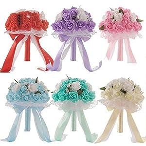 mamamoo Wedding Bouquet Bridal Bouquet Bride Holding Flower Bridesmaid Wedding Foam Flowers Rose Wedding Flowers Bridal 63