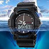 Skmei 1050 Personality Solar Watch Fashion Electronic Double Display Waterproof Outdoor Sports Watch