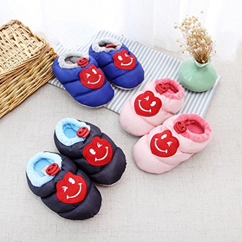 Huhu833 Baby Schuhe Baby Mädchen Jungen Mädchen Cartoon Design Kleinkind Erwärmung Krippe Schuhe Haushalt Schuhe Navy