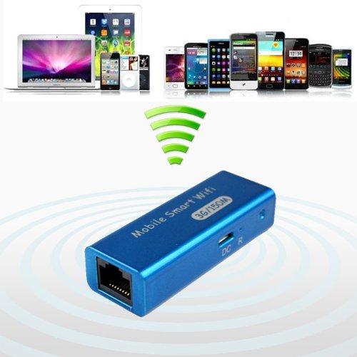 Bluesky New 3in1 Portable 3g/4g Wireless Wifi 150mbps Ap Hotspot Router (Blue)