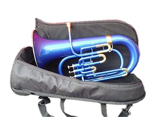Moonflag Euphonium Bb Pitch W-Case & Mp Brass Made Blue by NASIR ALI (Image #2)