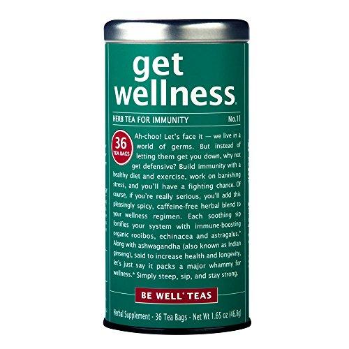 The Republic Of Tea Be Well Red Rooibos Tea - Get Wellness - No. 11 Herbal Tea For Immunity, 36 Tea Bag Tin by Republic of Tea