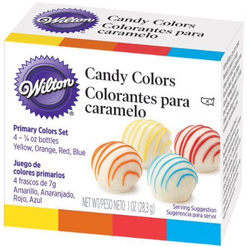 Wilton Candy Decorating Primary Colors Set, 1 oz. ()