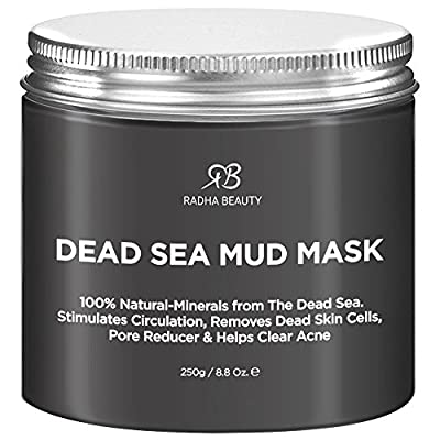 Best Cheap Deal for Radha Beauty Dead Sea Mud Mask for Face, Acne, Oily Skin & Blackheads - 8.8 oz - 100% natural facial treatment to minimize pores, reduce wrinkles, decrease acne and Improve skin Complexion by Radha Beauty Products LLC - Free 2 Day Ship