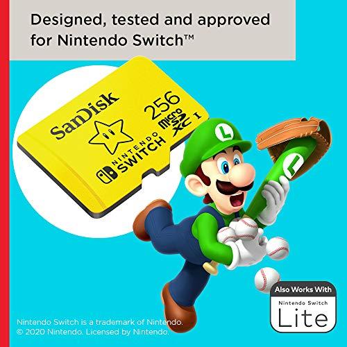 SanDisk 256GB microSDXC-Card, Licensed for Nintendo-Switch - SDSQXAO-256G-GNCZN